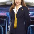 Stock Photo: Air hostess