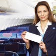 Air hostess (stewardess) — Stock Photo