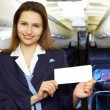 Air hostess (stewardess) — Stock Photo #7795676