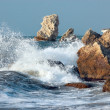 Blue sea storming - Stock Photo