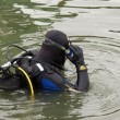 Scuba diver entering the water — Stock Photo #7795896