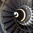 Airplane's jet engine — Stock Photo