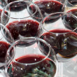 Royalty-Free Stock Photo: Red wine glasses, selective focus