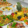 Stock Photo: Richly served banquet table