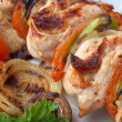 Chicken kebab closeup — Stock Photo