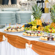 Banquet dessert table - Stok fotoraf