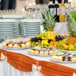 Banquet dessert table — Stock Photo