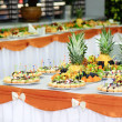 Banquet dessert table — Stock Photo