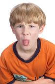 Displeased boy — Stock Photo