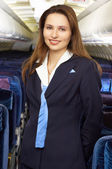Air hostess — Stock Photo