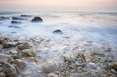 Zee tij op zoek zoals mist — Stockfoto