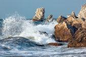 Blue sea storming — Stock Photo