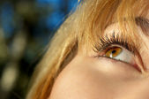 Girl's eye closeup — Stock Photo