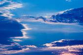 Dramatic evening sky — Stock Photo