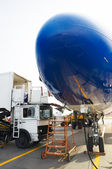 Airplane at service — Stock Photo