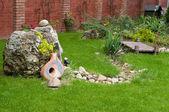 Nice backyard decoration — Stock Photo