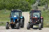 Two wheeled tractors — Stock Photo