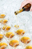 Poring the brandy — Stock Photo