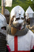 Teuton armoured knight or infantry — Stock Photo