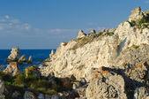 黒海、tarhankut 海岸 — ストック写真
