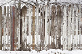 Wooden fence at winter — Stock Photo