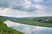 Dniester river, Moldova — Stock Photo
