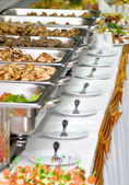 Banquet meals served on tables — Stock Photo
