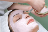 Beauty salon series, facial mask — Stock Photo