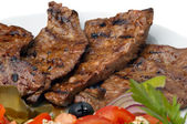 Fried beef liver — Stock Photo