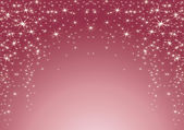 Pink background with stars. Christmas theme — Stock Vector