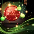Happy Holidays Background. — Stock Vector