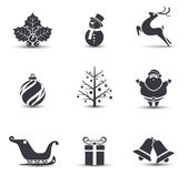 Vector Christmas icons. — Vector de stock