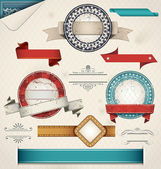 Vintage Grungy Design Elements. — Stock Vector