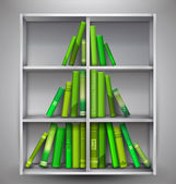 """Christmas Stories"". Christmas tree formed from books. — Stock Vector"