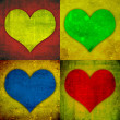 Grunge hearts — Stock Photo