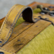 Royalty-Free Stock Photo: Handle on a old suitcase