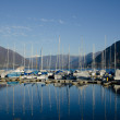 Port on a alpine lake - Lizenzfreies Foto