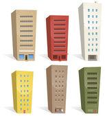 Buildings Set — Stock Vector