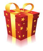 рождественская подарочная коробка — Cтоковый вектор