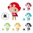 Super Kid Sticker — Stock Vector #7866919