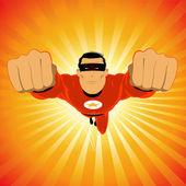 Comic-like Red Super-Hero — Stock Vector