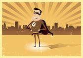 Vintage Retro Super Hero - Male — Stock Vector