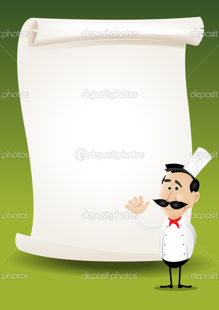 Chef Restaurant Poster Menu Background — Stock Vector © benchyb ...