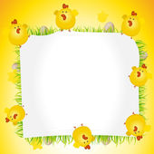 Holidays Easter Chicken Poster — Stock Vector