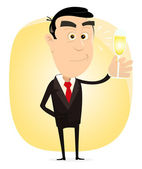 Champagne Party — Stock Vector