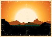 Góry ilustracja krajobraz plakat — Wektor stockowy