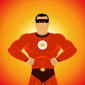 Fumetto-come super-eroe — Vettoriale Stock