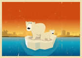 Global Warming Consequences — Vector de stock