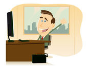 Back At The Office — Stock Vector