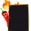 Cartoon Hot Spice Menu — Stock Vector